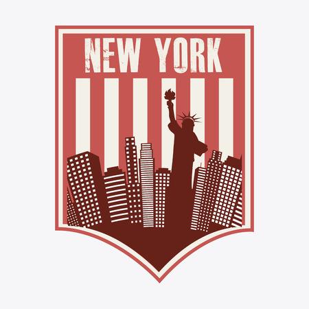 NYC design over background, vector illustration