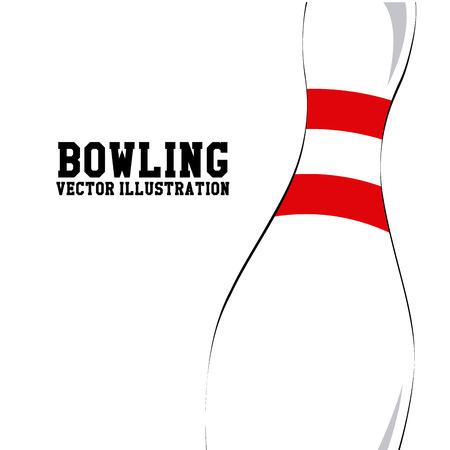 Bowling design over white background, vector illustration 向量圖像