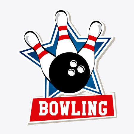 bowling pin: Bowling design over white background, vector illustration Illustration