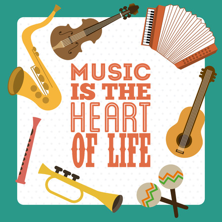 Music design over blue background, vector illustration Vector