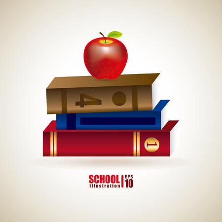 School design over gray  background, vector illustration Vector