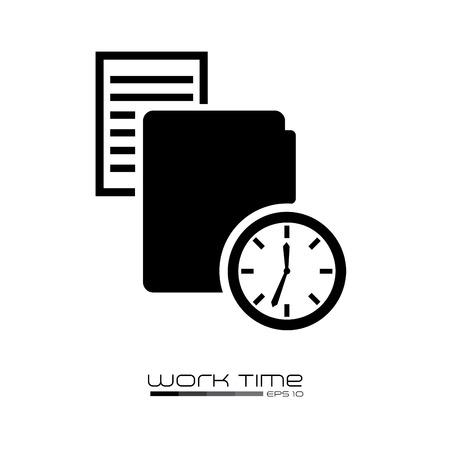 time design over white background vector illustration Illustration