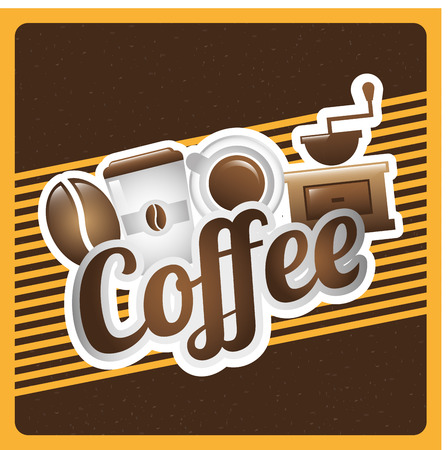coffee design over brown background vector illustration Vector