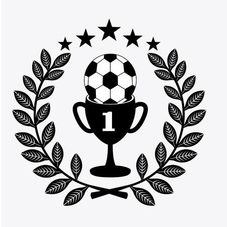 backgroud: soccer design over white backgroud vector illustration Illustration