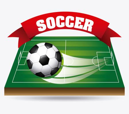 soccer design over white  backgroud vector illustration