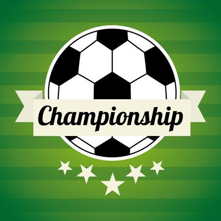 backgroud: soccer design over green backgroud vector illustration Illustration