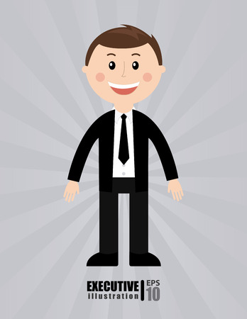 businessman design over gray background vector illustration Vector
