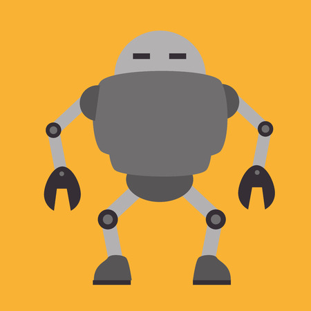 Robot design over yellow background, vector illustration Vector