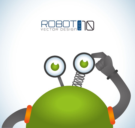 Robot design over white background, vector illustration Vector