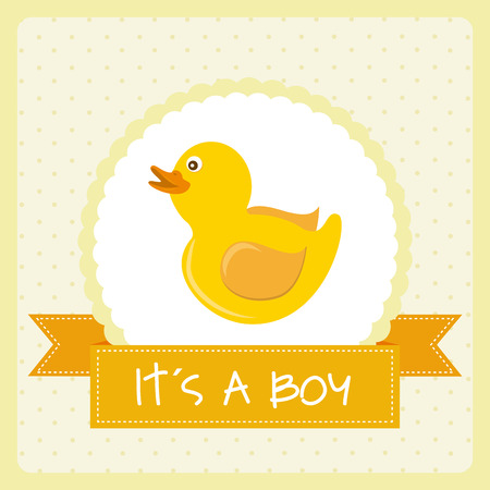 ducky: toy design over dotted background vector illustration