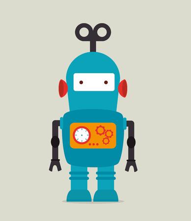 funny robot: Robot design over beige background, vector illustration