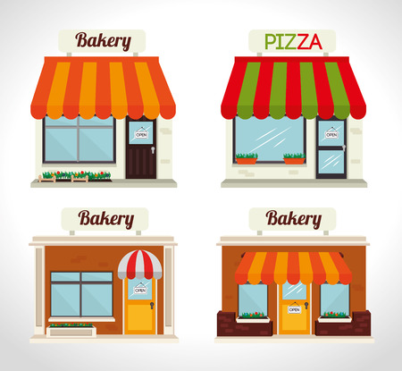 bakery products: Bakery design over white background, vector illustration