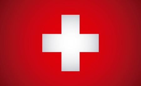 swiss flag: Swiss flag design over red background, illustration