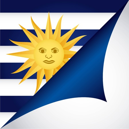 uruguay: Uruguay design over white background illustration