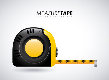 instrument of measurement: Measure design over gray background, illustration Illustration