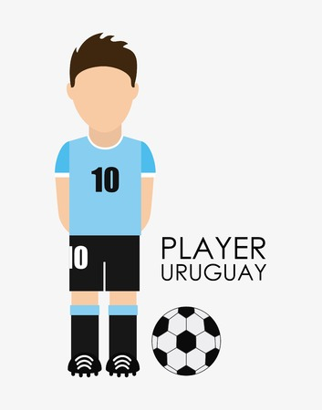 uruguay: Uruguay design over white background, illustration