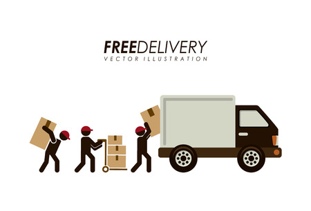 Delivery design over white background illustration Vector
