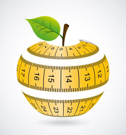 Measure design over gray background, illustration Illustration
