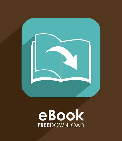 publish: eBook design over brown background, illustration