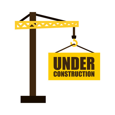 recondition: Construction design over white background, illustration