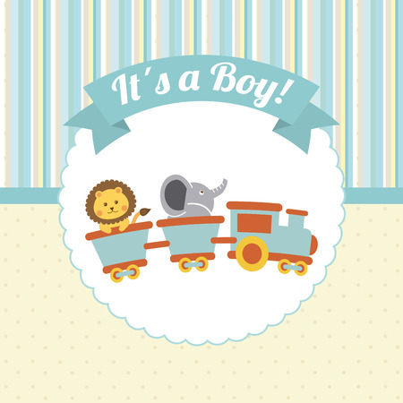 leon: baby design over lineal background illustration Illustration