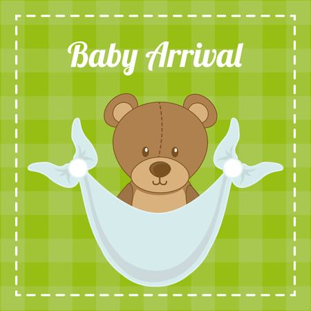 baby design over green background illustration Vector