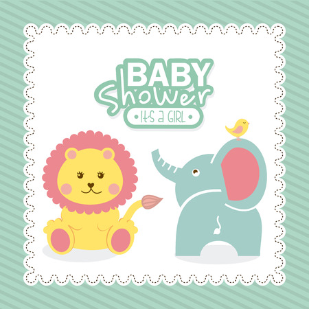 leon: baby design over blue background illustration