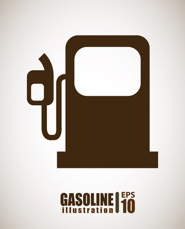 petrochemistry: dise�o de la gasolina sobre el fondo gris ilustraci�n Vectores