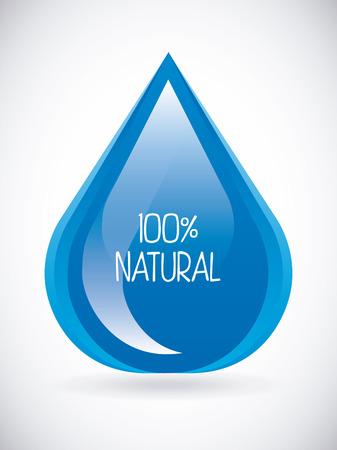 enviromental: water design over gray  background illustration
