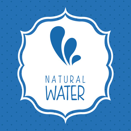 enviromental: dise�o del agua sobre el fondo azul en la ilustraci�n