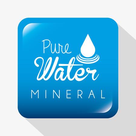 enviromental: water design over white  background illustration Illustration