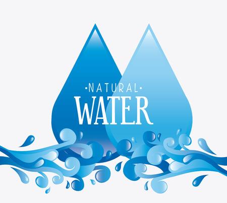 enviromental: dise�o del agua sobre fondo blanco Ilustraci�n