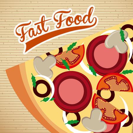 nutritive: food design over pattern background illustration Illustration