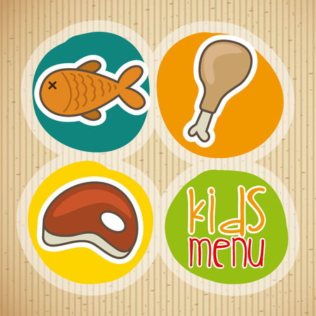 food design over beige  background illustration Vector