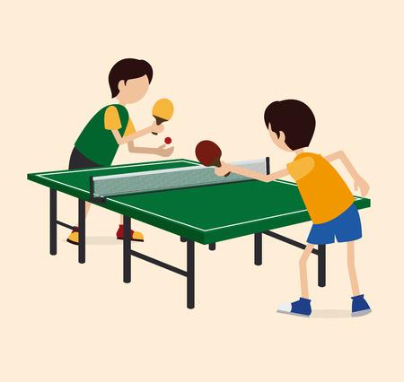 Sport design over beige background, illustration