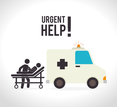 community service: Medical design over white background, illustration