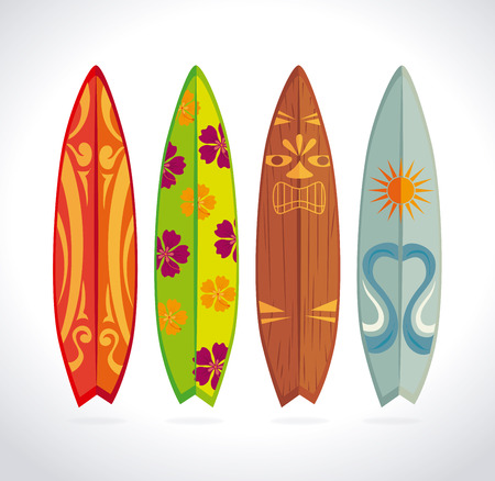 Surf design over white background, illustration