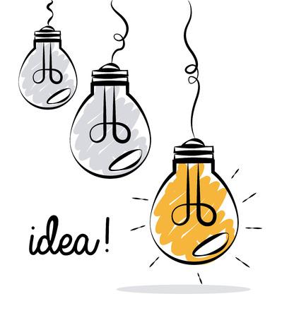 Bulb design over white  background, illustration Illustration