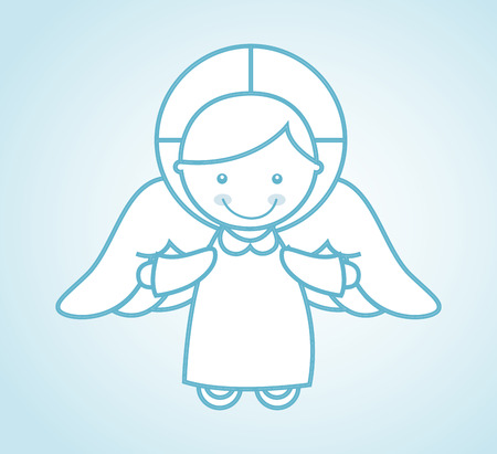 babby: religious design over blue background illustration Illustration