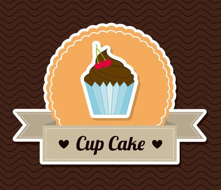berryes: cake design over pattern background illustration