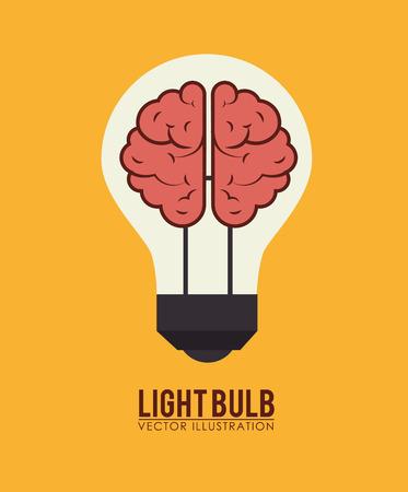 Bulb design over yellow background, illustration Illustration