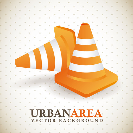under construction design over dotted background vector illustration Stock Vector - 29761620