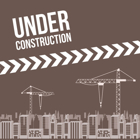 under construction design over gray  background vector illustration Vector