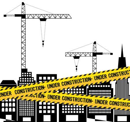 under construction design over white background vector illustration Stock Vector - 29761626