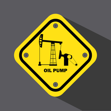 filling material: oil pump design over gray background vector illustration