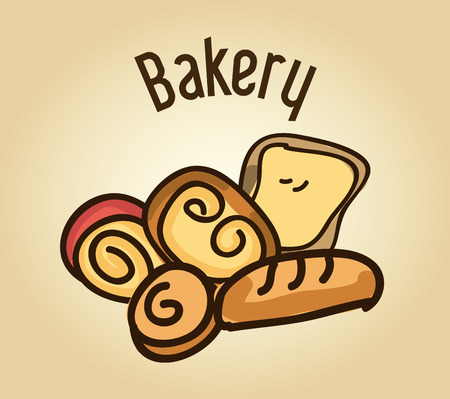 bakery design over  background vector illustration Vector