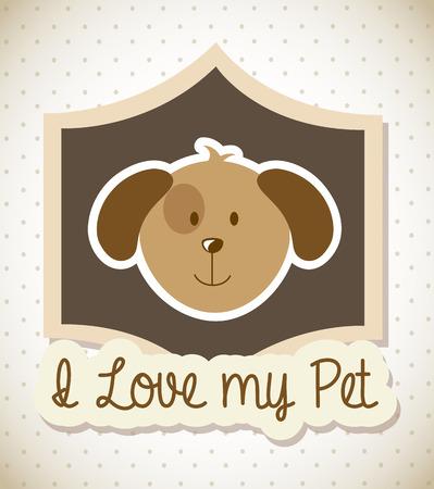 pets design over dotted background vector illustration Illustration