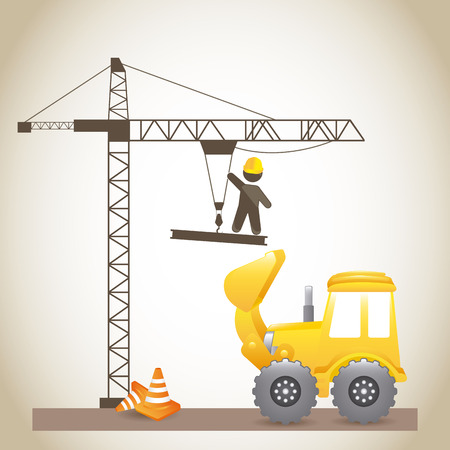 under construction design over  gray background vector illustration Stock Vector - 29761817