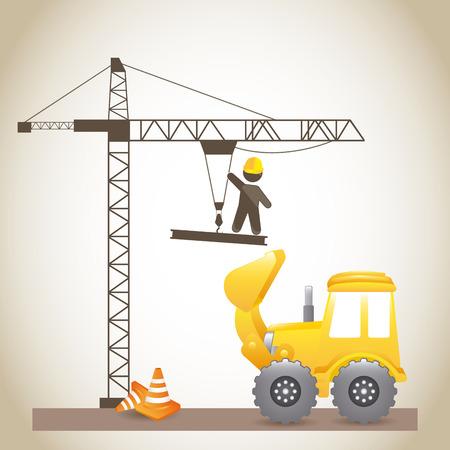 under construction design over  gray background vector illustration Stock Vector - 29761817