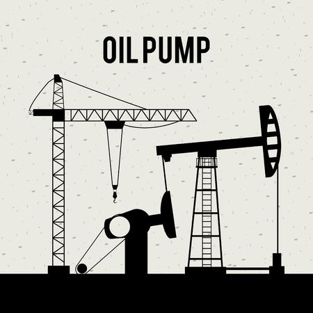 petrochemistry: dise�o de la bomba de aceite sobre fondo blanco ilustraci�n vectorial